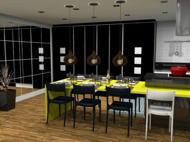 [Projeto para cozinha planejada e sala em SP]