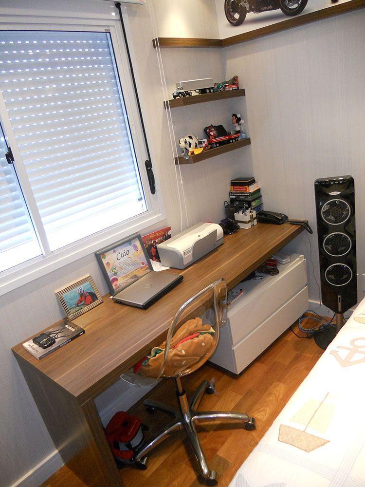 Dormitório Planejado na Moóca Zona Leste SP com mesa de estudos e prateleiras - Foto 1