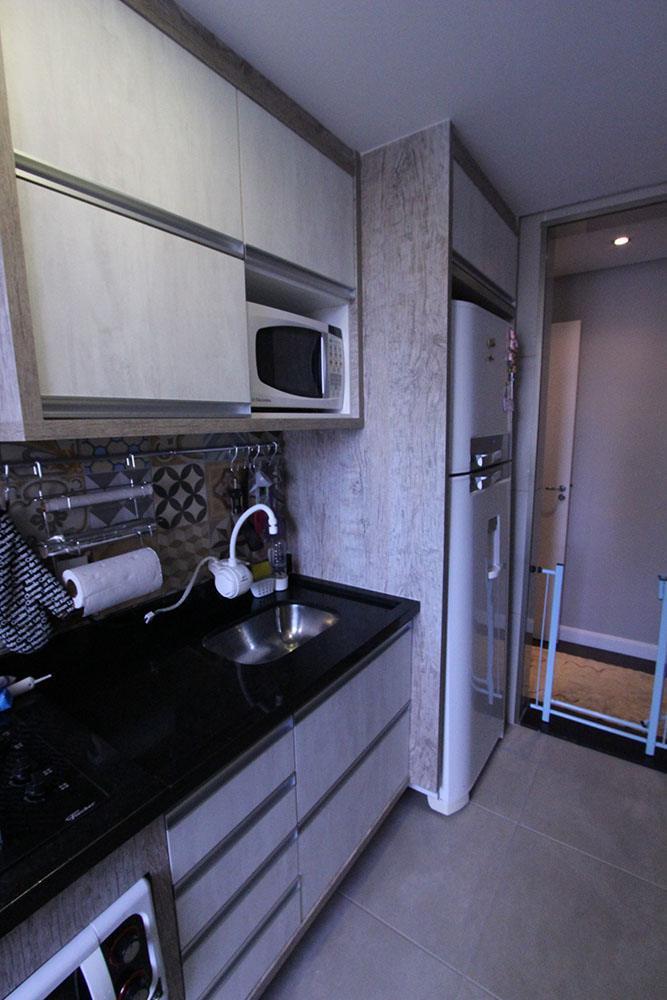 [Cozinha planejada no Jaçanã Zona Norte SP em MDF Vintage e tamponamento 36mm]
