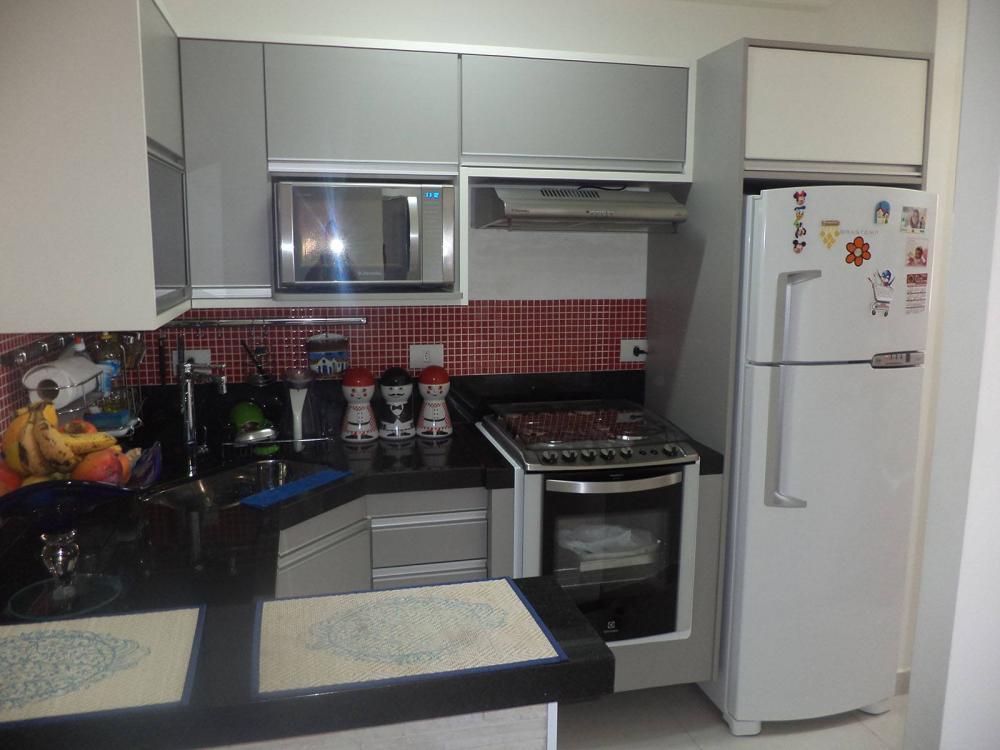 [Cozinha planejada no centro de SP para apartamento pequeno em MDF branco e Cinza]